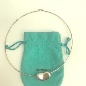 Tiffany & Co. silver wire necklace with bean